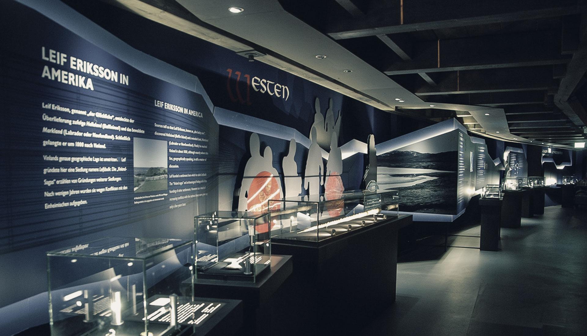 Wikinger! exhibiotion - advancement through technology - studio kudlich exhibition design